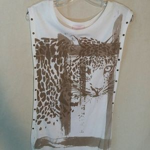 Romeo and Juliet Couture leopard shirt